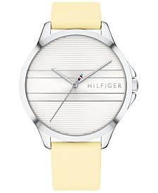 Tommy Hilfiger Women's  Butter Leather Strap Watch 38mm, Created for Macy's