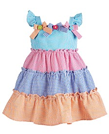 Blueberi Boulevard Baby Girls Tiered Gingham Sundress