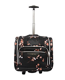 bebe Valentina Under The Seat Rolling Carry-On Tote