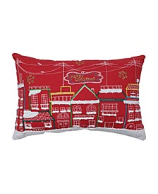 Skyline Christmas Lumbar Pillow