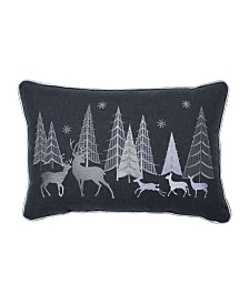 Pillow Perfect Christmas Forest Scene Lumbar Pillow