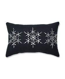 Pillow Perfect Jeweled Christmas Lumbar Pillow