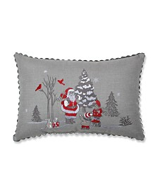 Pillow Perfect Santa Christmas Scene Lumbar Pillow