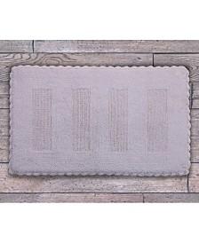 """Saffron Fabs Crochet Lace SPA 34"""" x 21"""" Reversible Cotton Bath Rug"""