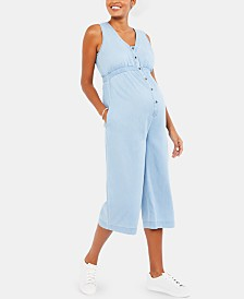 Motherhood Maternity Chambray Jumpsuit