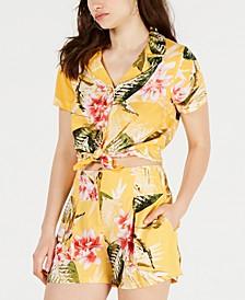 Idalia Floral-Print Button-Front Shirt