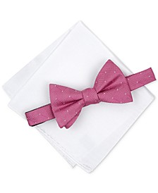 Men's Dot To-Tie Bow Tie & Solid Pocket Square Set, Created for Macy's