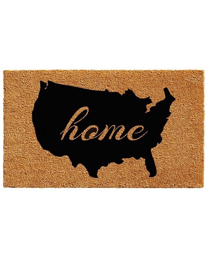 "Home & More - USA 18"" x 30"" Coir/Vinyl Doormat"