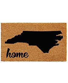 "North Carolina 18"" x 30"" Coir/Vinyl Doormat"