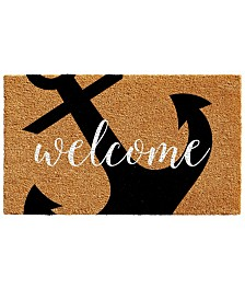 "Anchor Welcome 17"" x 29"" Coir/Vinyl Doormat"