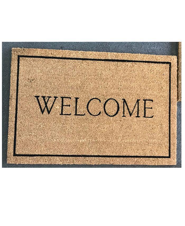 """Home & More - Welcome Border 17"""" x 29"""" Coir/Vinyl Doormat"""