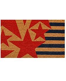 "Stars and Stripes 17"" x 29"" Coir/Vinyl Doormat"