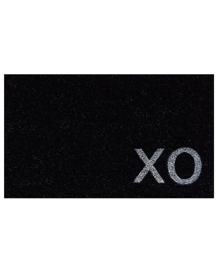 """Home & More - XO 17"""" x 29"""" Coir/Vinyl Doormat"""