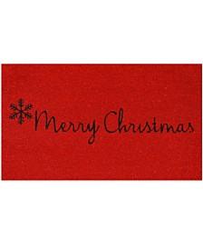 """Red Merry Christmas 17"""" x 29"""" Coir/Vinyl Doormat"""