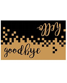 """Hello/Goodbye 17"""" x 29"""" Coir/Vinyl Doormat"""