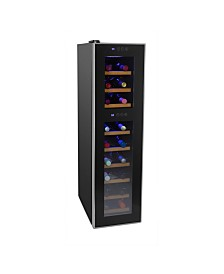 Cuisinart CWC-1800DZTS 18 Bottle Private Reserve Dual Zone Wine Cellar