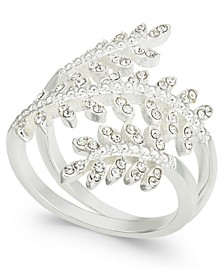 Silver-Tone Crystal Leaf Wrap Ring, Created for Macy's