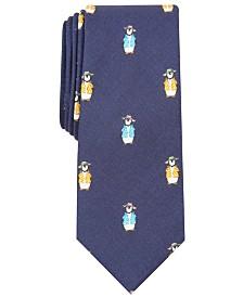 Bar III Men's Vacation Penguin Skinny Tie, Created for Macy's