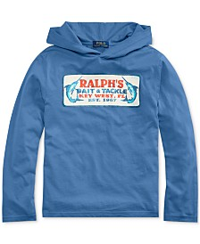 Polo Ralph Lauren Big Boys Cotton Jersey Hooded Graphic T-Shirt