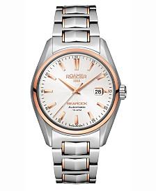 Roamer Men's 3 Hands Date 42 mm Dress Watch in Two Tone Steel Case and Bracelet