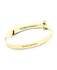 Beatrix Potter Sterling Silver Jemima Puddle Duck Expander Bangle Bracelet