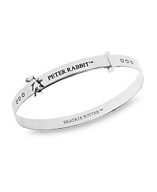 Beatrix Potter Sterling Silver Peter Rabbit Hearts Expander Bangle Bracelet
