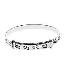 Beatrix Potter Sterling Silver Running Peter Rabbit Expander Bangle Bracelet