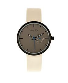 Quartz The 3900 Genuine Eggshell Leather Watch 40mm