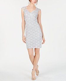 Connected Lace Sweetheart Sheath Dress