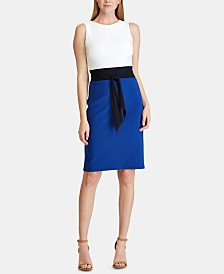 Lauren Ralph Lauren Petite Three-Tone Jersey Dress