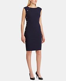 Lauren Ralph Lauren Button-Trim Dress