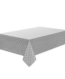 "C. Wonder Boardwalk Dot Silver 84"" Tablecloth"
