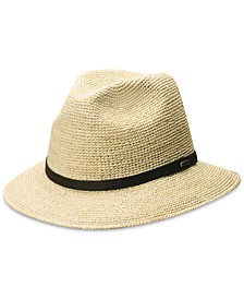 Men's Crocheted Raffia Safari Hat