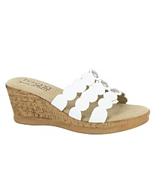 Tuscany by Easy Street Torina Wedge Sandals