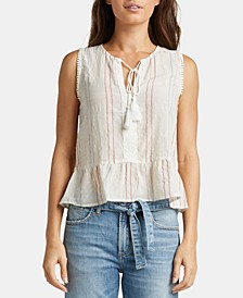 Starla Embroidered Peasant Top