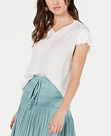 Ruched Tiered-Sleeve Top