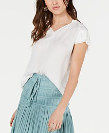 Current Air Ruched Tiered-Sleeve Top