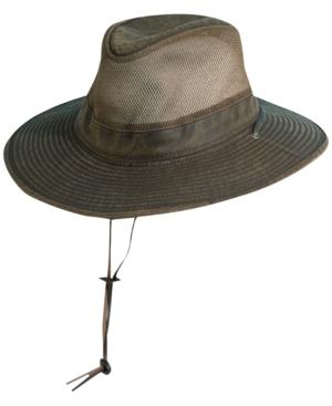 Men's Weathered Big-Brim Mesh Safari Hat