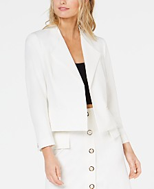 Nine West Wing-Lapel Jacket