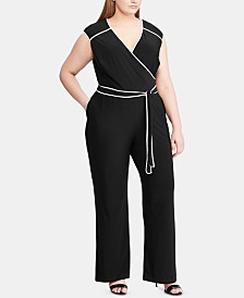 Lauren Ralph Lauren Plus Size Wide-Leg Jumpsuit