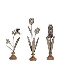 """Floral Décor (Set of 3) 15.5""""H, 18""""H, 22.5""""H"""
