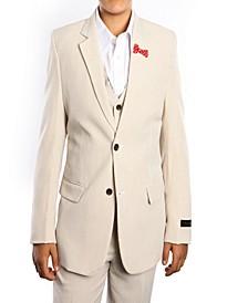 Elbow Patch 2 Button Vested Boys Suit, 5 Pc