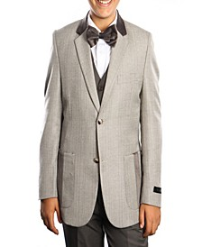 Single Breasted Elbow Patch 2 Button Vested Suits for Boys
