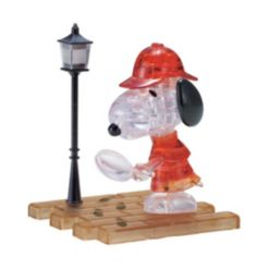 BePuzzled 3D Crystal Puzzle-Detective Snoopy - 34 Pcs