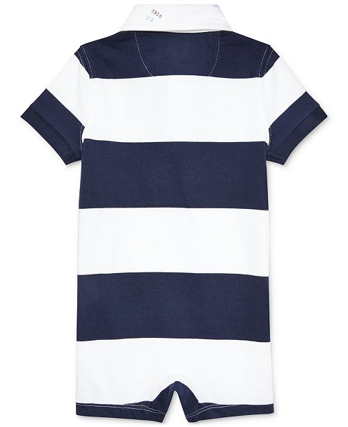 17064dcc Polo Ralph Lauren Baby Boys Striped Cotton Rugby Shortall - All Baby ...