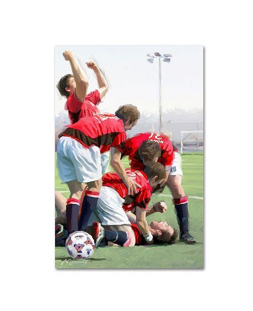 "Trademark Global The Macneil Studio 'Football Celebration' Canvas Art - 47"" x 30"" x 2"""