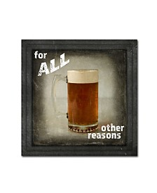 "lightbox Journal 'Dorm Room Pub Only Other Reason' Canvas Art - 35"" x 35"" x 2"""