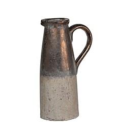 Candia Ceramic Pitcher, Sienna