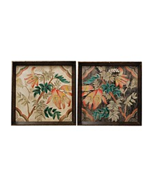 Floral Trays, Set of 2