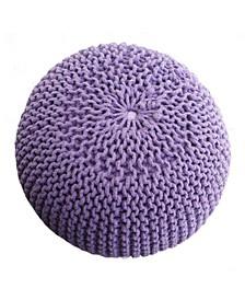 Woven Purple Pouf